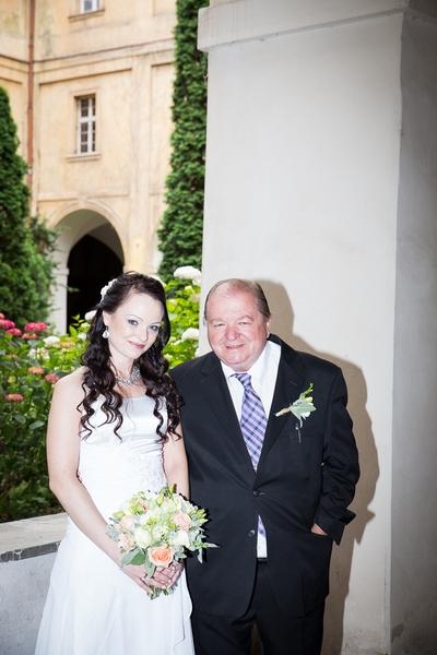 Svatební fotografie přímý blesk