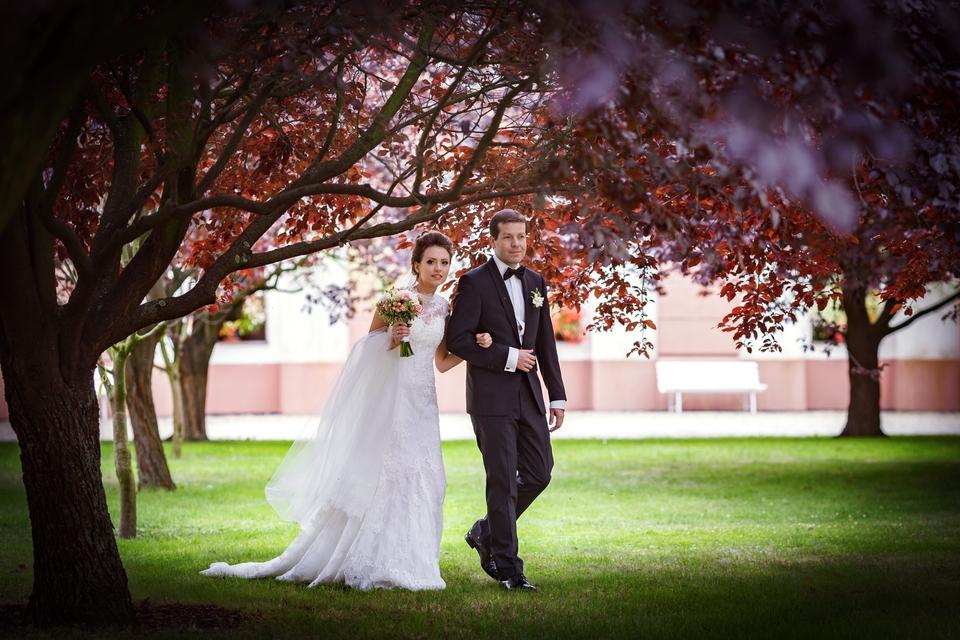 Portrétní fotografování novomanželů na zámku Troja