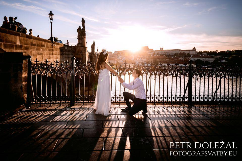 Pre Wedding at the Old Town end of Charles Bridge