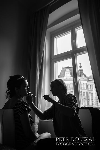 svatební přípravy - vizáž pro nevěstu