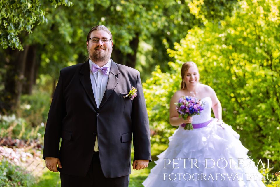 První pohled ženicha a nevěsty