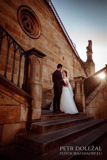 Another Pre Wedding Photo on Charles bridge Staircase