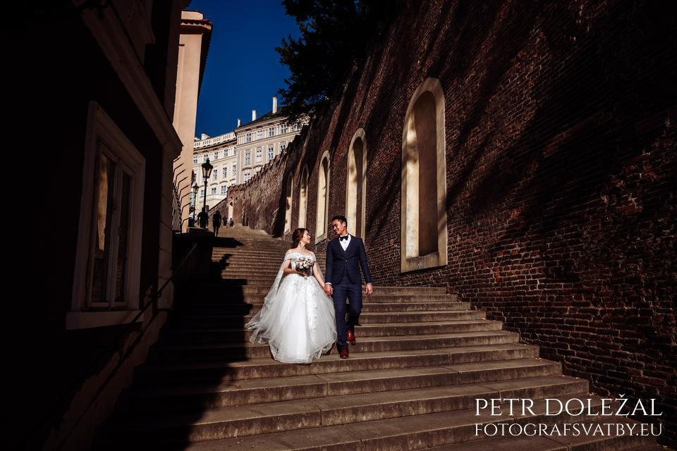 Old Castle Stairs from Prague Castle from Pre Wedding Photo Shoot
