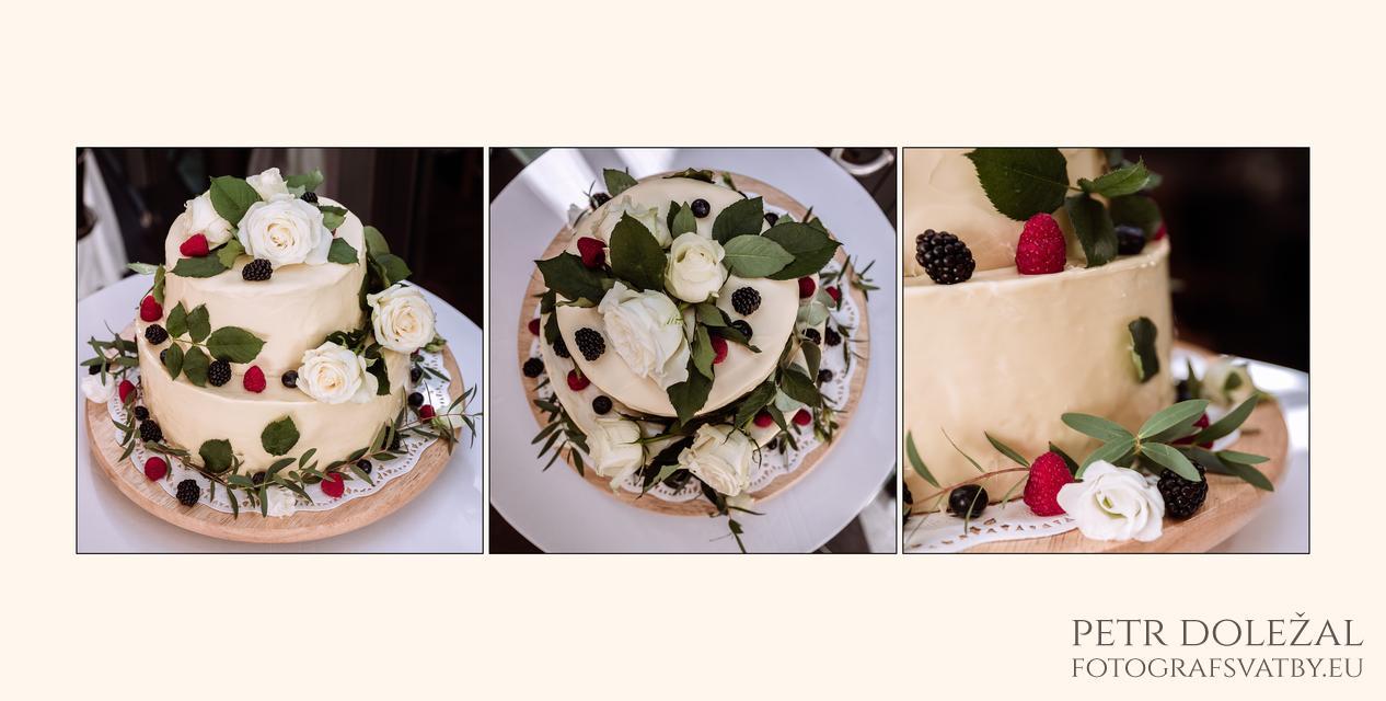 Detaily svatebního dortu