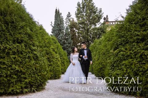 Svatební fotka - pár na cestě