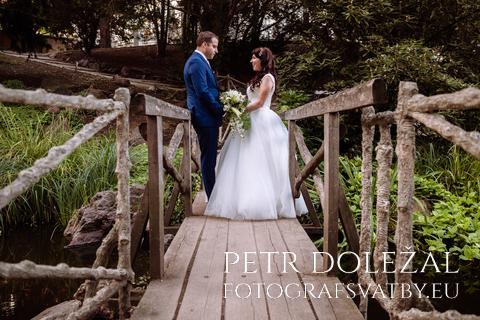 Svatební pár - symetrie mostu