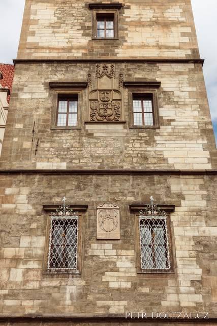 Detail fasády Novoměstské radnice v Praze