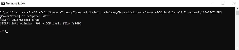 exiftool metadata ve fotce JPG