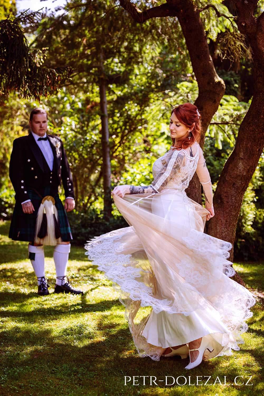 Fotografie svatby ve skotském pojetí