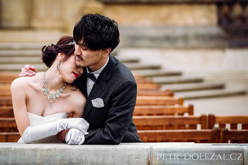 Svatba foto - japonský pár