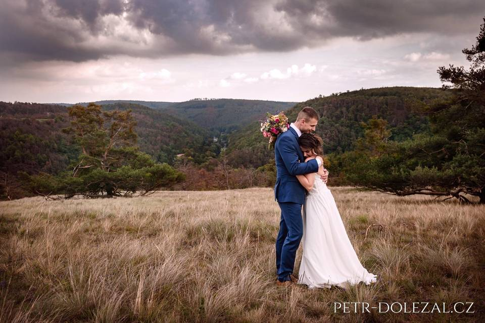Svatební foto z přírody