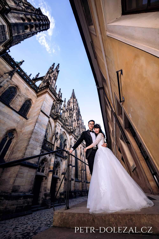 Svatební fotografie Praha - katedrála sv. Víta