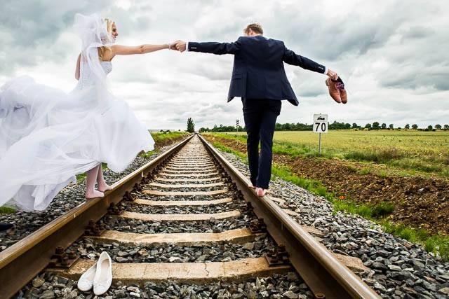 Svatební fotka před úpravou