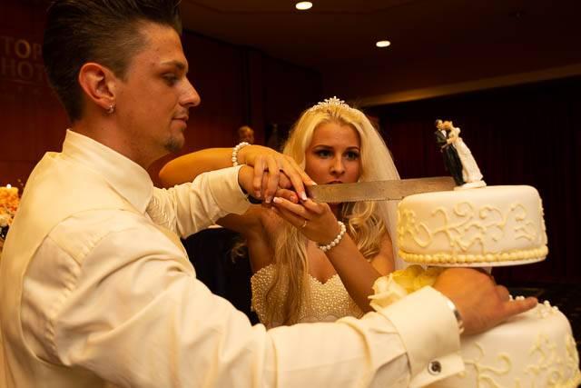 Fotka ze svatby před úpravou