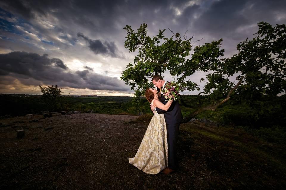 Fotka ze svatby po úpravě