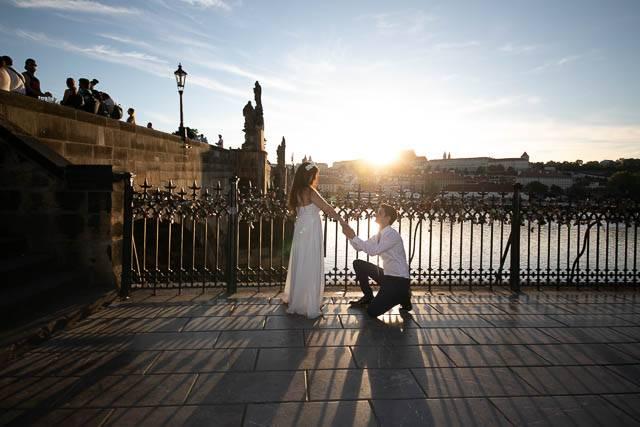 Svatební fotografie před retušemi