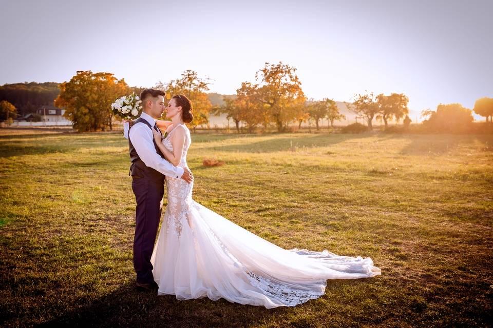 Svatební fotografie po retušování