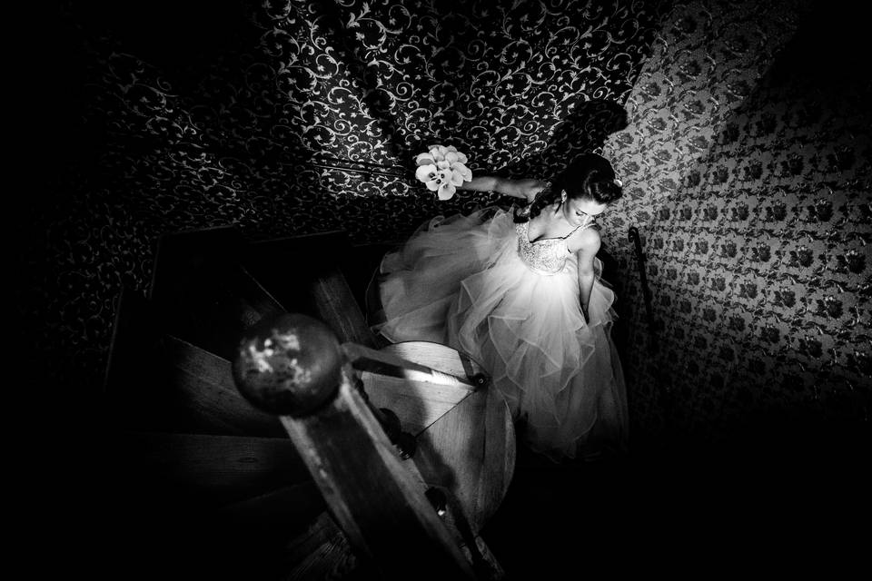 Retušovaná fotka ze svatby