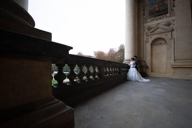 Fotka svatby před retušemi