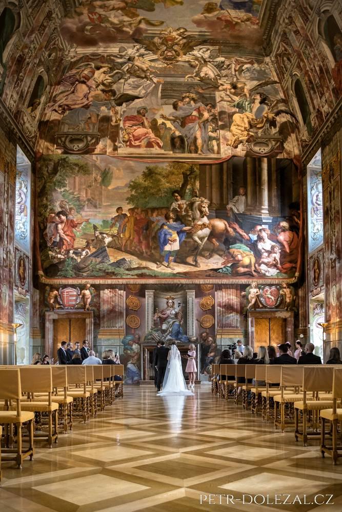 Svatební obřad v Císařském sálu Trojského zámku