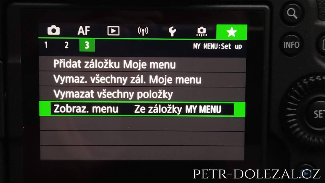 Moje menu Canon R6