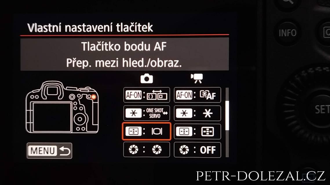 Tlačítko bodu AF Canon R6