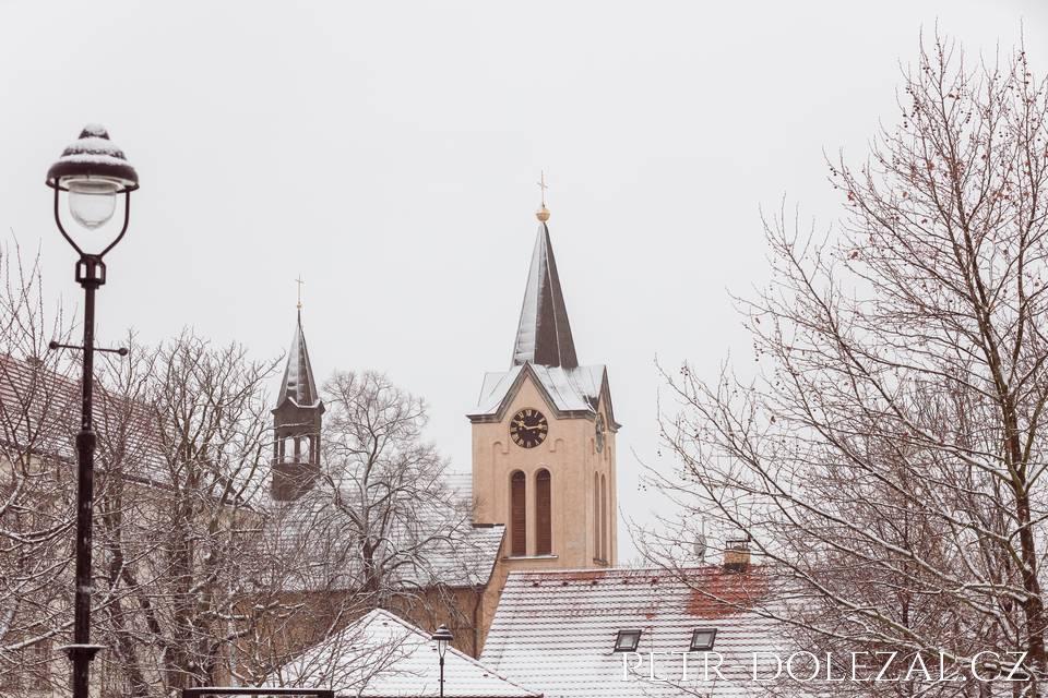 Chvalský zámek v zimě