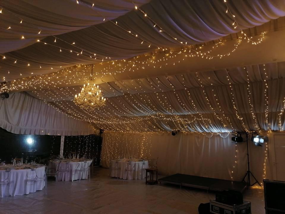 LED světýlka na svatbu