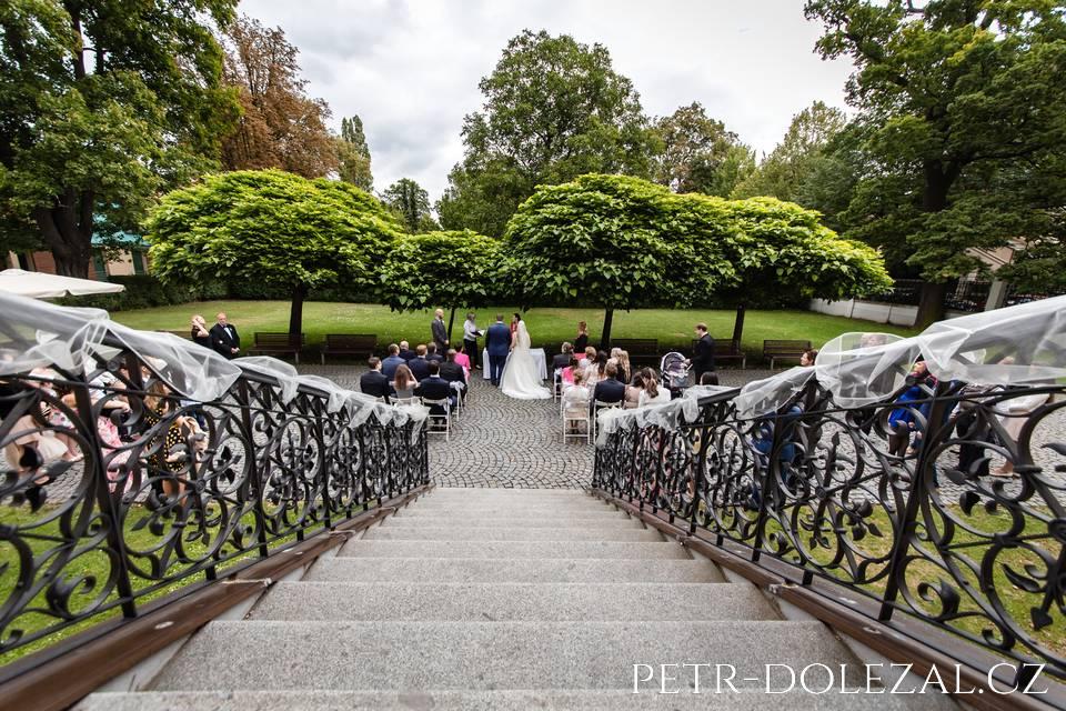 Vila Pellé - svatební obřad