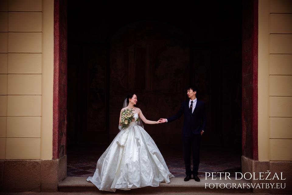 Focení svatby ve Vrtbovské zahradě