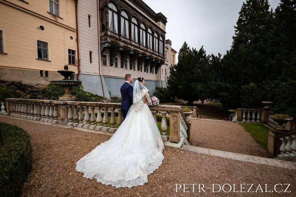 Zámek Zbiroh - nevěsta a ženich