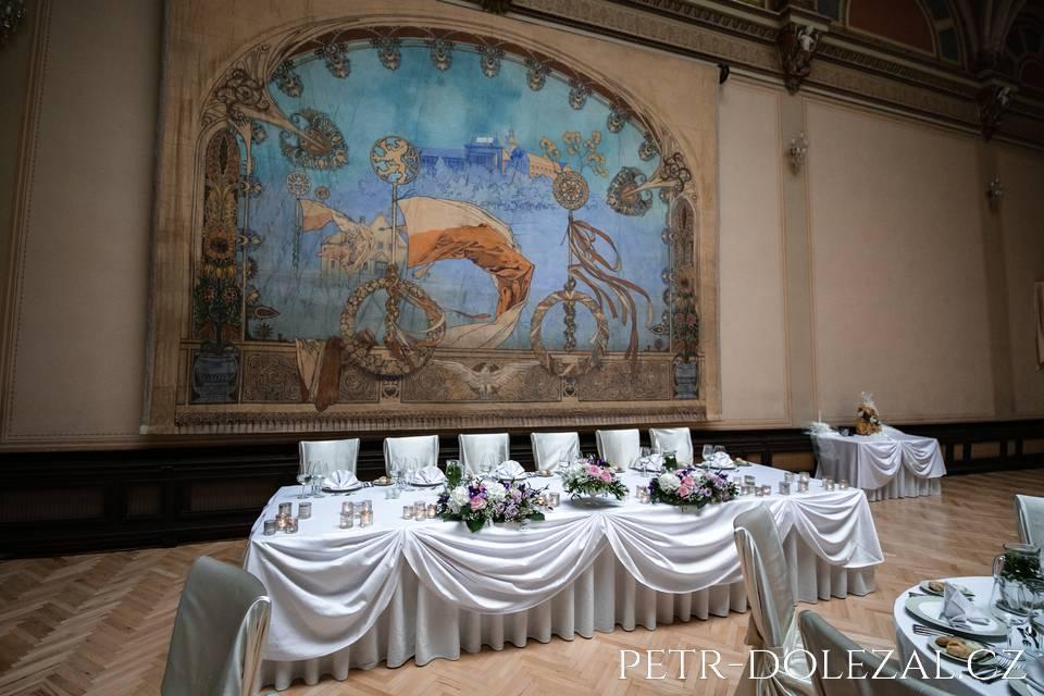 Svatební místo Zbiroh - Muchův sál