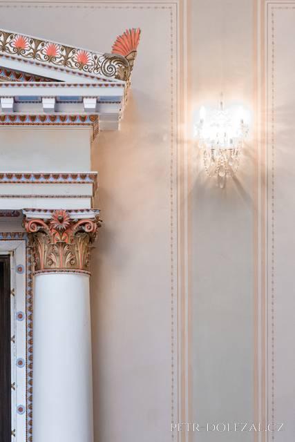 Detail interiéru - Muchův sál Zbiroh