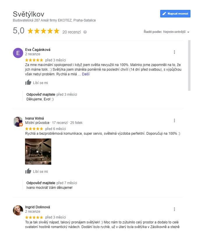 Světýlkov recenze